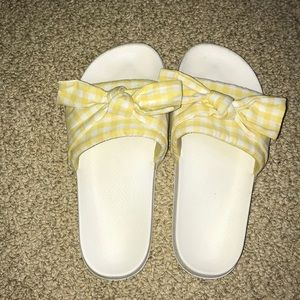 Size six sandals/slides